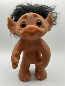 """Thomas Dam Vintage Collector's 10"""" Troll Doll 1977 (#604) made in Denmark 🇩🇰😀"""