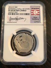 2014-S 50c Ryne Sandberg Baseball Coin NGC (Proof) PF-69 Ultra Cameo/ Brand New