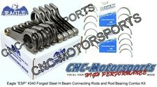 6.700 BB Chevy BB Ford Eagle Rods, H Beam ARP L19 with Clevite Rod Bearings