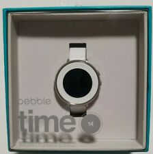 Pebble Time Round 14mm Smartwatch Apple/Android, Arctic White