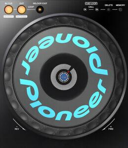 Pioneer CDJ - Jog Wheel - Logotype Decal Sticker CDJ - 1000