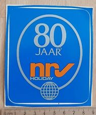 Sticker / Autocollante / Aufkleber / Decal +/- 1980 NRV Holiday 80 jaar
