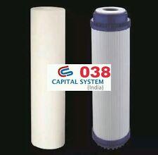 "RO Water Filters Inline Wall Hang Under sink Model Spun +  GAC 10""x2.5"" [038]"
