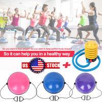 "24"" Yoga Balance Training Half Ball for Gym Exercise Fitness Strength Workout US"
