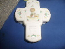 """Precious Moments 1993 Cross Trinket Box """"Christmas is a Time to Share"""" w/ box a7"""