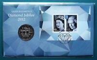 2012 Queen Elizabeth II Diamond Jubilee Fifty Cent Coin PNC