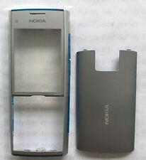 Original Nokia x2-00 Cubierta Frontal + Tapa de batería Plata Azul acover