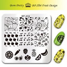 Born Pretty Nail Art Image Stamping Template Fruit Stamp Plates 6*6cm DIY BP-X04