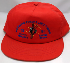 LINEMAN RODEO snapback hat cap adjustable 1995 fourth annual puget power energy