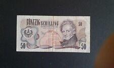 BANCONOTA AUSTRIA 50 SCELLINI 1970