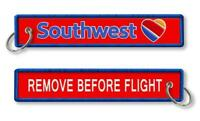 Southwest Airlines-Remove Before Flight keychains x2