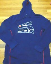 NEW MAJESTIC MLB CHICAGO WHITE SOX GRAY RETRO HOODED SWEATSHIRT SIZE L