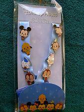 Disney * CUTIES - MICKEY & FRIENDS * New 8 pin Starter Set with Lanyard & Card