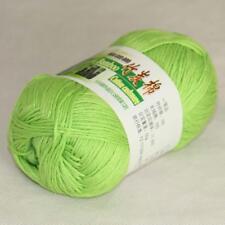 50g 1Ball Super Soft Worsted Natural Bamboo Cotton Knitting Yarn 909 Neon green