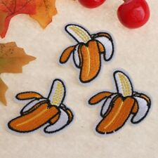 3pcs DIY Fruit Banana Embroidered Iron on Patches Clothing Apparel Accessories