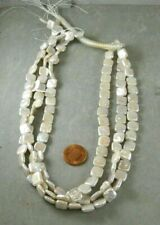 Fresh Water Square Pearl Beads 16 inch Strand 9mm approx
