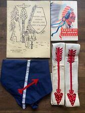 "Boy Scout BSA Order of the Arrow LOT 54"" Uniform Sash (2) Handbooks Neckerchief"