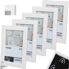 """5 Stück Set IKEA """"FISKBO"""" (10x15 cm.) Bilderrahmen/ Fotorahmen/ Weiß/ Neu/OVP w2"""