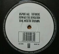 """SPIRAL TRIBE - Forward The Revolution Youth Rmx 12"""" Etched Vinyl TECHNO HARDCORE"""