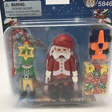 Playmobil Christmas Duo Pack Santa & Elf Set 5846 18 Pc New Stocking Stuffer