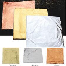 100Tlg 14cm*14cm Schlagmetall Blattmetall Gold/Silber/Kupfer vergolden Blattgold