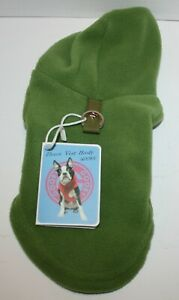 Gooby Fleece Vest Hoodie SMALL BREED Pull Over Jacket w/Leash Ring - XS or S