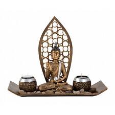 Buddha Kerzenleuchter *Deko Teelichthalter Buddha * inkl. 2 Teelichter #FengShui