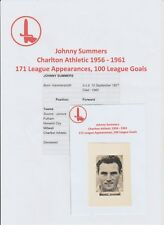 JOHNNY SUMMERS CHARLTON ATHLETIC 1956-1961 VERY RARE ORIG HAND SIGNED PICTURE
