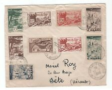 Morocco lot of 9 nice stamps on cover genine used