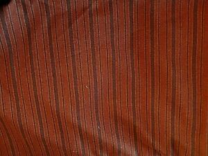 HALLOWEEN  FALL BROWN ON BROWN STRIPES  QUILT  SEW  CRAFT FABRIC 3 YARDS