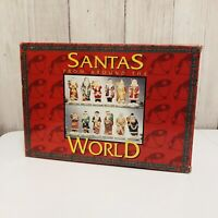 Santas From Around The World Porcelain Hand Painted Figures 12 Piece Set Decor