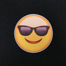 "Emoji Sunglasses Smiley Face 3.5"" Decal"