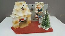 Vtg NOMA Christmas Lighted Scene Display Light/Motion/Music Box - Works!