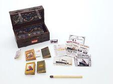 More details for dolls house miniature titanic memorabilia travel trunk 12th scale