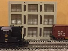 """O Scale 3-Story Concrete Warehouse Shadow Box 1-Piece 12"""" Long Text To Order"""