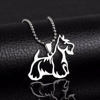 Stainless Steel Scottish Terrier Scottie Pet Dog Tag Charm Pendant Necklace