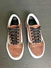 Vans Old Skool Lace-Up Skate Shoe Sparkle Glitter Brown Bronze Youth Size 2