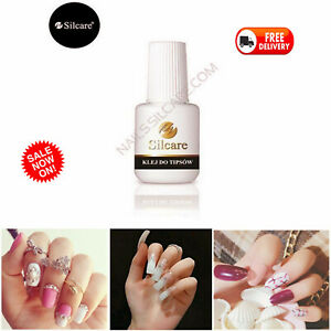 Silcare NAIL TIP GLUE 7.5g for Acrylic False Nails & Decorations STRONG Adhesion
