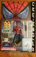 WEB SLINGING SPIDERMAN w/Lamp Post Spider-Man Movie Series 2 Marvel Toy Biz 2000