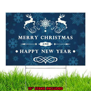 Merry Christmas Happy Holiday Xmas Season Winter Decoration Yard Sign Design C6