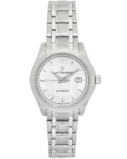 CARL F. BUCHERER MANERO  AUTODATE LADIES SELF WINDING WATCH SAPPHIRE BACK $4,200