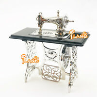 Silver Metal Sewing Machine For 1:12 Dollhouse Miniature Furniture NEW