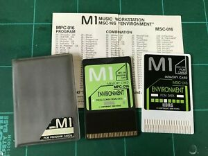 KORG M1 PCM PROGRAM CARDS ENVIRONMENT MSC-16S MSC-016/MPC-016 w/ case, paper