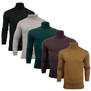 Mens Soul Star Roll Turtle Neck Jumper Sweatshirt Pullover Sweater Top S-XL