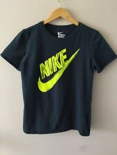 05812a5f8 The Nike Tee Athletic Cut Dri Fit T-Shirt Black Volt Swoosh Youth Boys Large