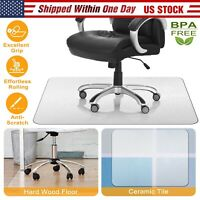 Computer Desk Chair Mat PVC Protector For Hardwood Floor / Carpet Home Office US