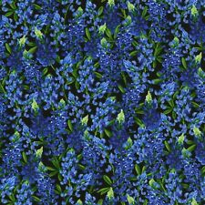 Fabric Flowers Texas Bluebonnets Full Timeless Cotton by the 1/4 yard