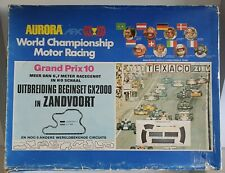 Rare AURORA AFX GP Zandvoort NL track OB slotcar set 1960s H0 scale 2