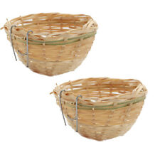 2x Bird Breeding Nest Hanging Cage for Finch Lovebird Canary Budgie Cozy