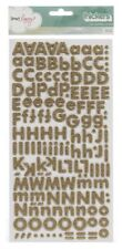 American Crafts Dear Lizzy 5th Frolic Thicker Glitter Foam Alphabet Sticker Gold